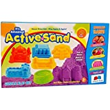 GRAPPLE DEALS Active Sand Castle Play Set Modeling Sand Never Dries Out For Kids.
