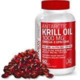 Bronson Antarctic Krill Oil 1000 mg with Astaxanthin, 60 Softgels