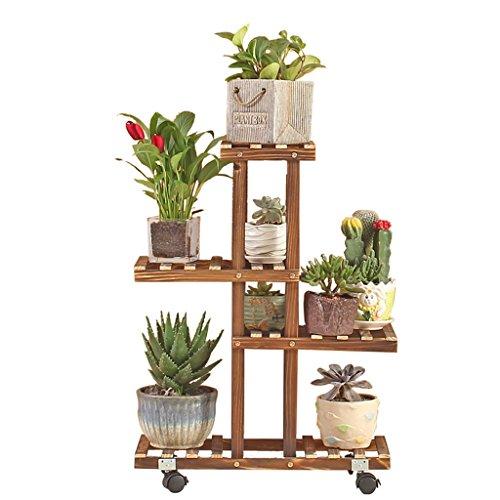 Supporti per piante rack jun-flower mensola per fioriera in legno per interni mensola per esposizione in vetro a più strati mensola per ripostiglio soggiorno camera da letto decorazione per balconi cr