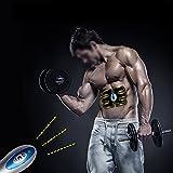 Enshey Appareil Abdominal, Smart Ceinture Sans Fil Massage Electrostimulation Musculaire Exercice Bras Jambe Fitness Musculation Entraînement Formateur Muscle Toner Tonifiant pour Unisexe Femme Homme