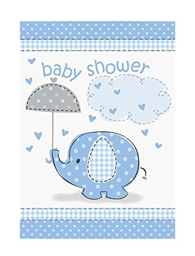 rellaPhant l�dt Dusche Boy Party Einladungen Supplies Zubeh�r Pack von 8 Blue One Size ()