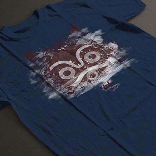 New Forest Defenders Princess Mononoke Women's T-Shirt Navy Blue