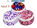 #8: Abbuy Assorted Roti/Chapati Covers - Traditional Roti Cover Box - 100% Pure Cotton Box (Set of 3, Round)