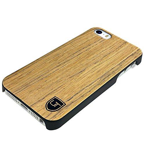 UTECTION Holzhülle Cover für Apple iPhone SE / 5S / 5 ** Eco Echt Holz - Ultra-Slim ** Einzigartiges Desgin ** Perfekte Passgenauigkeit ** Woodcase in Abachiholz