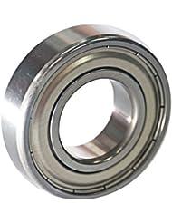 EZO - Roulement à billes à gorge profonde rangée simple en acier inoxydable 6205 ZZ (25x52x15)