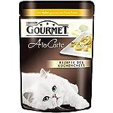 Gourmet a la Carte Katzenfutter Huhn, Rind, Forelle, Seelachs, 6er Pack (6 x 4 x 85 g) Beutel