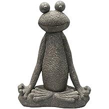 Dekofigur großer Frosch liegend 63 cm Gartenfigur Froschkönig Frösche