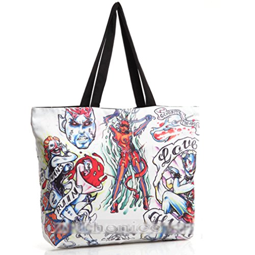 THENICE, Borsa a spalla donna Multicolore multicolore Medium devil