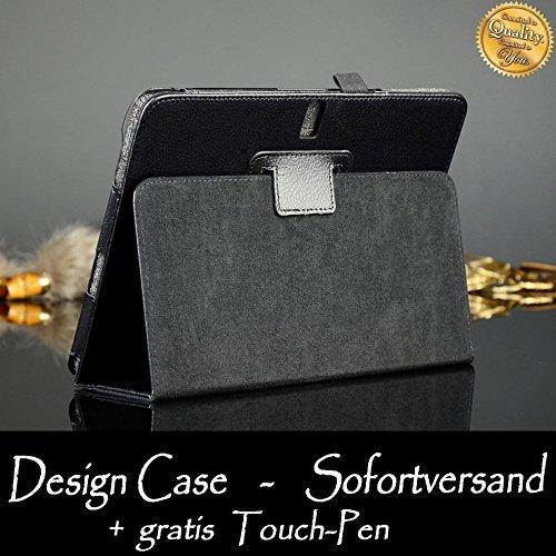 WiTa-Store Tasche für Samsung Galaxy Note 10.1 Zoll (2014 Edition) SM-P600 P601 P605 Smart Slim Case Book Cover Stand Flip Tab Pro P600N P601N P605N (Schwarz)