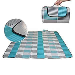 Outdoor Meadow Insulation Suede Picnic Blanket Versatile Way Tent Camping Mat Foldable,300*300cm