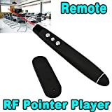 Neon USB Wireless Remote Control Professional Laser Pointer Presenter Slide Changer Controller (Black)