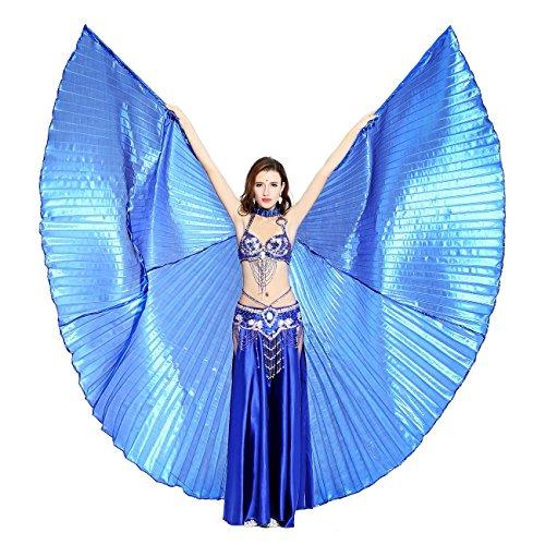Dance Fairy marineblau Bauchtanz Isis Flügel,Einschließlich Stöcke/Rute