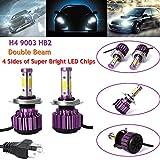 2x H1H3H4H7H8H9H1190059006HB3HB4110W LED auto lampada LED kit faro auto fascio lampadine 6000K bianco Fog Light 9–30V H4LED High Low Beam -9,000lm 80W High Beam–3anno di garanzia