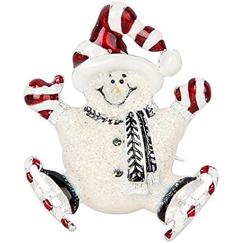DAYAN Decorazione di Natale Regalo di natale Pin strass Albero di Natale Spilla accessori di abbigliamento