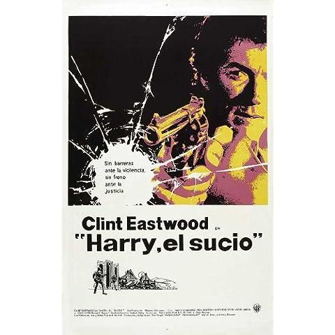 Cartel de la película Harry el sucio Peurto Rico - 28 cm x 44 cm 11 x 17 en Clint Eastwood Harry Guardino alerces Andrew (Andy) John Robinson Reni Santoni John