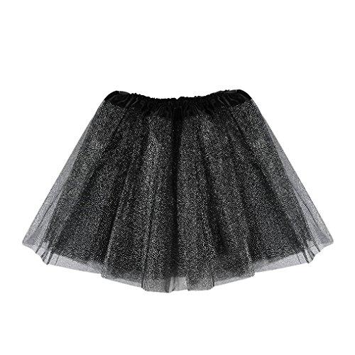 erthome Baby Mädchen Rock, Kinder Mädchen Tanz Fluffy Tutu Röcke Pettiskirt Ballett Kostüm kleidung 3-8 Jahre (Schwarz)