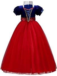 IWEMEK Vestidos de la Princesa Blancanieves Cuento de Hadas Disfraces para Halloween Cosplay Costume para Niñas