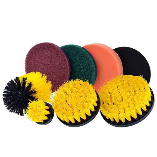 Hupoop Set di spazzole per trapano a 8 pezzi Set di pulizia per scrubber a 8 pezzi Set di pulizia per tutti gli usi
