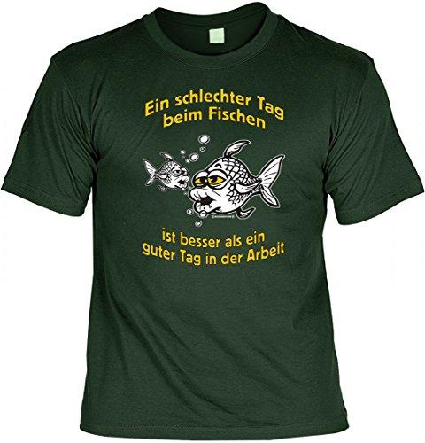 Modicana® T-Shirt Angler - Ein schlechter Tag beim Fischen.. - lustiges Funshirt Angeln