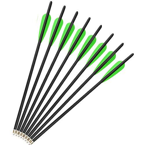 SHARROW 12 x Armbrustpfeile 16 Zoll 17 Zoll Carbonpfeile Armbrustbolzen Bolzen für Armbrust Grün (Grün 2, 16 Zoll)