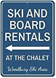 Ski &Amp; Board Rentals at Chalet Arrowign, Personalizedki Location Name Metal Decor, Customki Lover Gift - Metal Aluminumigns Vintage TIN Sign Size: Approx. 20 * 30cm/ 7.8 * 11.8 inch(L * W)...