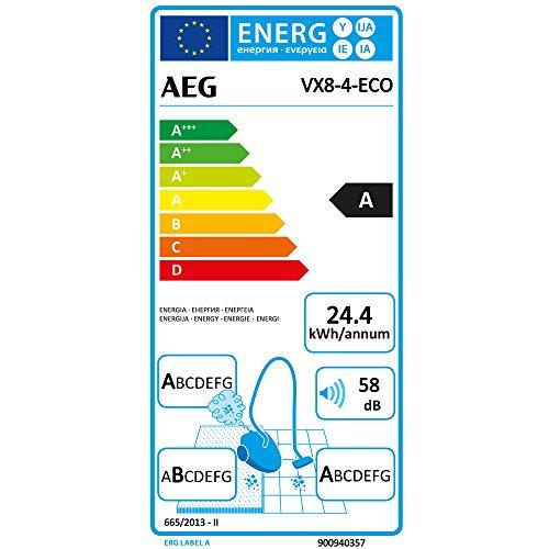 AEG-VX8-4-ECO-Aspirador-con-bolsa-gama-ecolgica-ABAA-750W-58dB-con-cepillos-extra