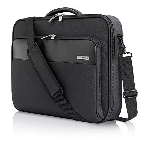 Belkin Business Notebooktasche (geeignet für Notebooks bis zu 43,2 cm (17 Zoll)) schwarz (Clamshell Schwarz Notebook Nylon)