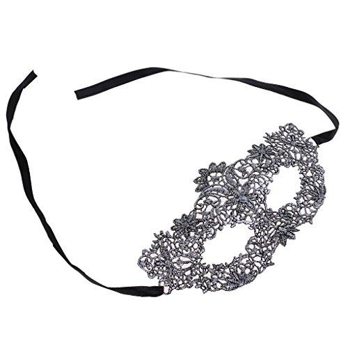 MagiDeal Vintages Spitze Venezianisches Maskerade Masken Halloween Party Kostüm Zubehör - Antikes Silber