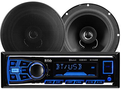 Boss Audio 638BCK Boss 611UAB Mechless Bluetooth MP3 Digital Media Receiver/Speaker Package System