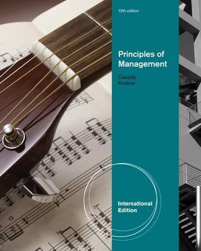 Principles of Management, International Edition