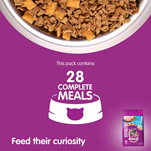 Whiskas Kitten Dry Cat Food, Ocean Fish Flavour – 1.1 kg Pack