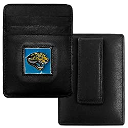 NFL Jacksonville Jaguars Leather Money Clip/Cardholder Packaged in Gift Box