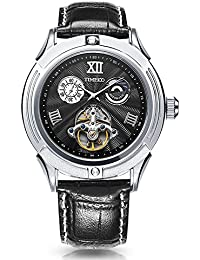 Time100 W60053G.01A W600 - Reloj pulsera mecácino para hombres de color negro con esfera negro