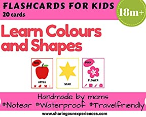 SOE Store - Colors and Shapes Flashcards for Kids (Perfect for Toddlers and preschoolers )| Learn About Colors and Shapes Easily with These Laminated and Waterproof flashcards
