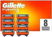 Gillette Fusion 5 Cuchillas de Afeitar Hombre, Paquete de 8 Cuchillas de Recambio (El Diseño Exterior del Paqu