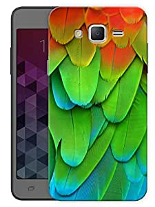 "Humor Gang Colorful Bird Feathers Printed Designer Mobile Back Cover For ""Samsung Galaxy Grand 2"" (3D, Matte Finish, Premium Quality, Protective Snap On Slim Hard Phone Case, Multi Color)"