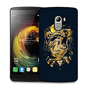 Snoogg Mustache Wolf Designer Protective Back Case Cover For LENOVO K4 NOTE