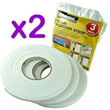 6 ROLLS DRAUGHT EXCLUDER FOAM - WATERPROOF SELF ADHESIVE BACKED TAPE - IDEAL FOR DOOR AND WINDOWS