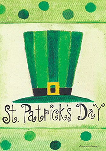 Toland Home Garden St Pat 's Hat Flagge 117088, Polyester, 12.5