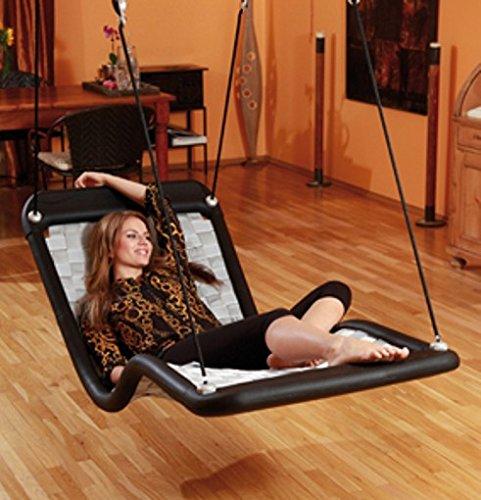 Relax-Schaukel – DreamlinerPlus XL (extra lang & breit) / Maße: 190 x 76 x 80 cm / Gewicht: 13 kg / Farbe: schwarz