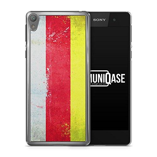 Südossetien Grunge - Handy Hülle für Sony Xperia E5 - Cover Hard Case Hard Schutz Schale Flagge Flag South Ossetia
