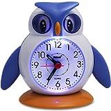 Para niños con diseño de reloj despertador - Reloj despertador - reloj despertador de viaje - Reloj de pared o de diseño de búho y se puede elegir entre de pingüino