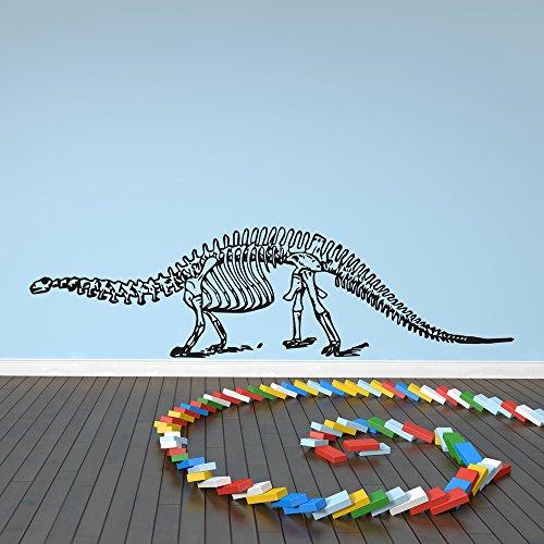 Alamosaurus Esqueleto Silueta dinosaurio Etiqueta de la pared Tatuajes de pared Arte disponible en 5 tamaños y 25 colores Pequeño Verde hoja