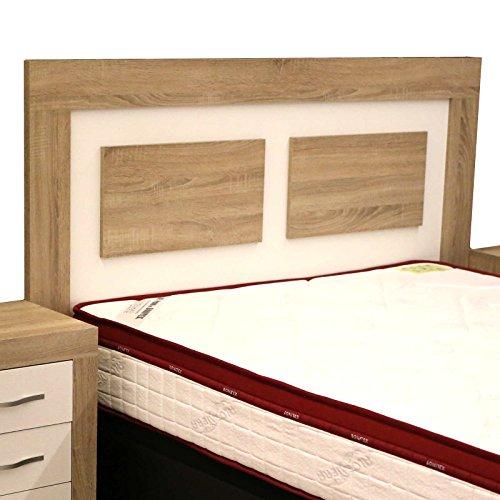 cabezal cama de matrimonio color cambrian y soul blanco con melamina textura madera para dormitorio de