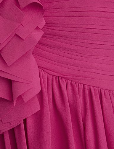 Dressystar Robe de soirée/de bal courte, une Bretelle, en Mousseline Blush