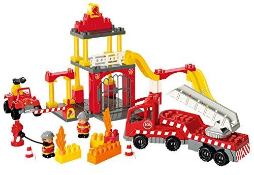 Ecoiffier - 3149 - Jeu De Construction - Caserne Des Pompier - Abrick