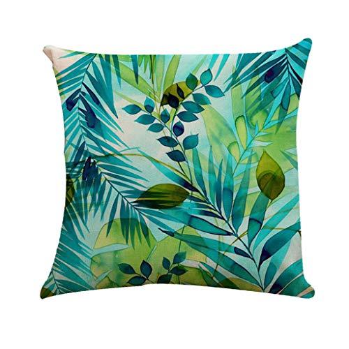 YYQXNYM Kissenbezug Tropical Palm Leaves Pattern Kissenbezug Sofa Home Dekorativ 45Cm * 45CmC -