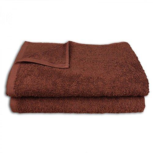 2er-Set Duschtücher 140 x 70 cm :: Handtuch Handtücher Badetuch Duschtuch aus 100% Baumwolle - schoko (Braunen-bad-handtücher)