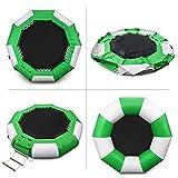 Aufblasbares Wassertrampolin Serie Splash Padded Water Bouncer Aufblasbare Bouncer Jump Wassertrampolin Bounce Schwimmplattform für den Wassersport