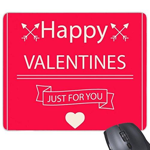 Happy Valentine 's Day nur für Sie Rosa Herz CROSSING Pfeile Banner Illustration Muster Rechteck rutschfeste Gummi Mauspad Spiel Maus Pad -